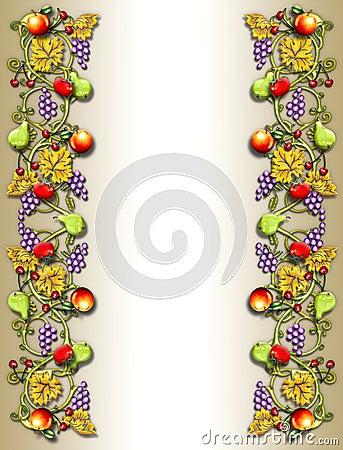 Fruit & veggie vine border