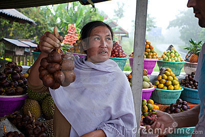 Fruit vendor Editorial Stock Image