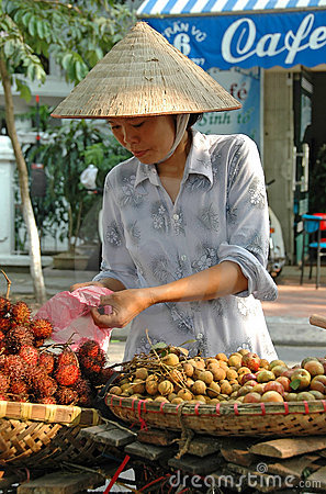 Fruit Vendor, Hanoi, Vietnam Editorial Photography