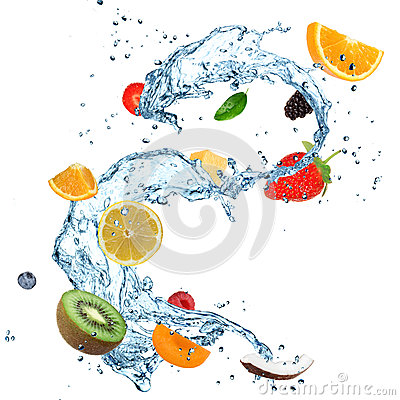 Free Fruit Water Splash Royalty Free Stock Images - 26081599
