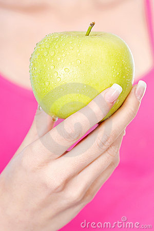 Fruit in woman s hand