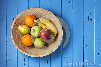 Fruit Wood Bowl Background