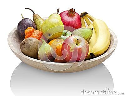 Fruit Wood Bowl Food