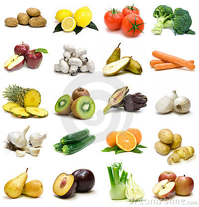 Free Fruits And Vegetables Royalty Free Stock Photos - 12734438
