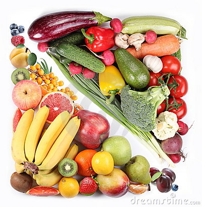 Free Fruits And Vegetables Royalty Free Stock Photos - 14380118