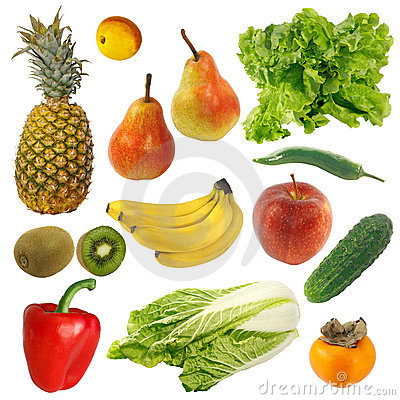 Free Fruits And Vegetables Royalty Free Stock Image - 19259296