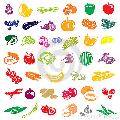 Free Fruits And Vegetables Royalty Free Stock Photos - 25991778