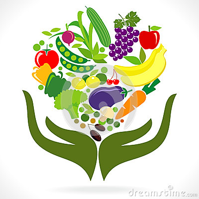 Free Fruits And Vegetables  : Health In Your Hands Royalty Free Stock Image - 25603456
