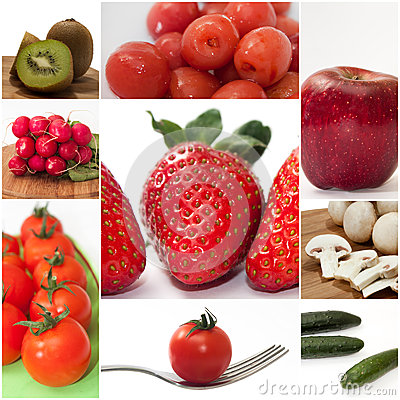Free Fruits And Vegetables Mixed Collage Image Royalty Free Stock Images - 49988939
