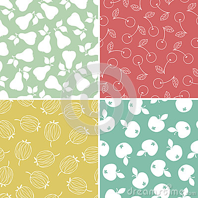 Fruits and Berry seamless pattern