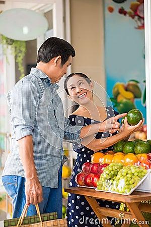 Fruits choosing