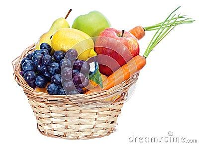 Fruits dans le panier