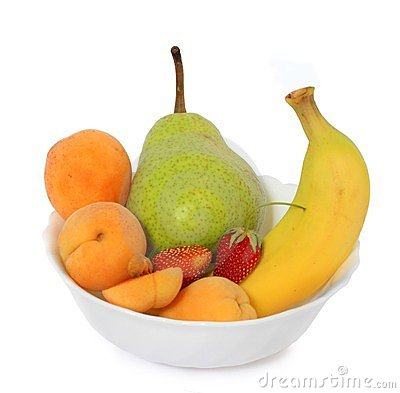 Fruits in deep plate