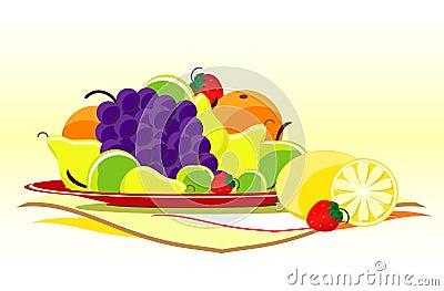 Fruits on dish