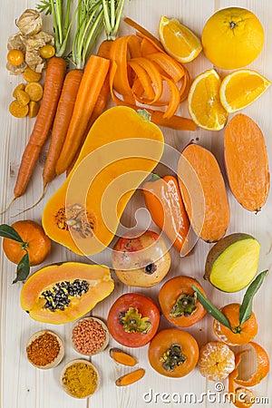 fruits et l gumes de couleur orange photo stock image 48674042. Black Bedroom Furniture Sets. Home Design Ideas