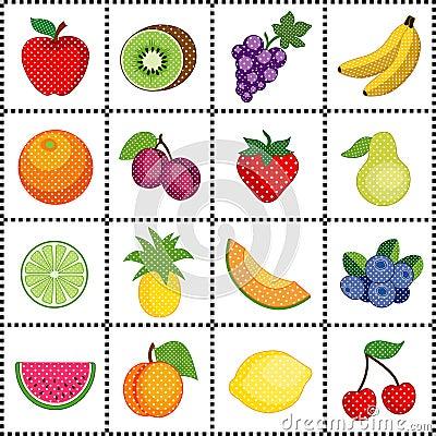 Fruits, Gingham Frame