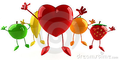 Fruits and heart
