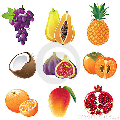 Free Fruits Icons Royalty Free Stock Image - 22552206