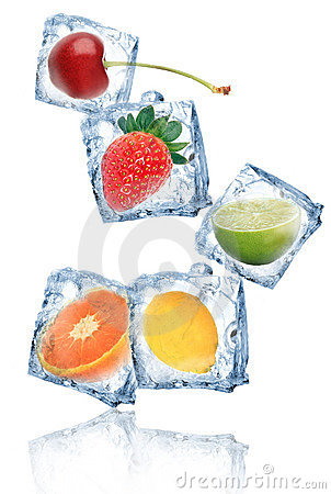 Free Fruits In Ice Cubes Stock Image - 20546401