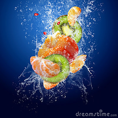 Free Fruits In Water Stock Image - 9350541