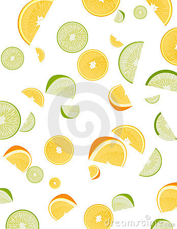 Fruits on isolated background