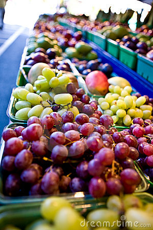 Fruits on a market stall