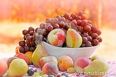 Fruits organiques frais