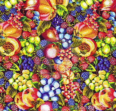 Fruits Pattern Fabric