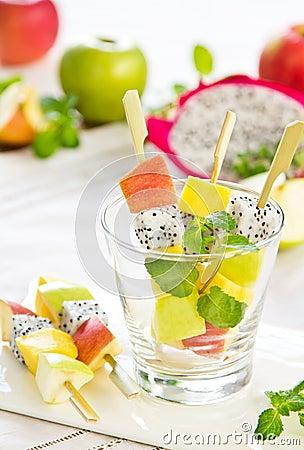 Free Fruits Salad [Fruits Salad Skewer ] Royalty Free Stock Image - 24675326