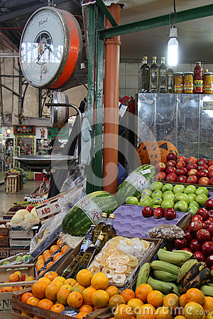 Fruits in San Telmo Market Editorial Stock Image