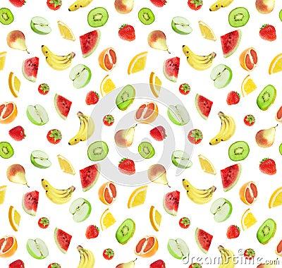 Free Fruits - Seamless Background Stock Image - 3092871