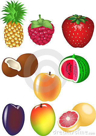 Free Fruits Set Royalty Free Stock Photo - 6411315