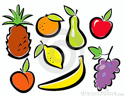 Fruits set of icons