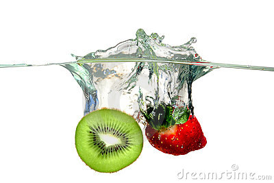 Fruits splashing