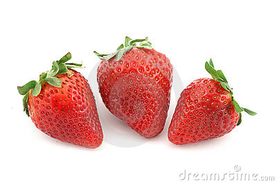 Fruits three strawberry