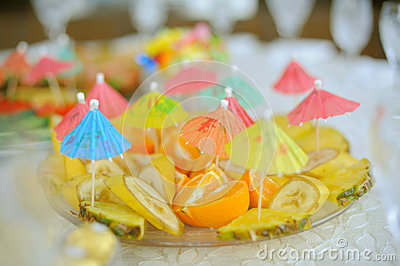 Fruits with Umbrellas