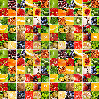 Free Fruits Vegetable Big Collage Royalty Free Stock Images - 22127869