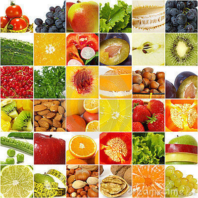 Fruits vegetable collage