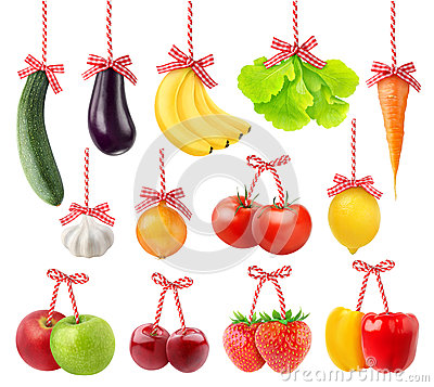 Fruits and vegetables as Christmas decoration