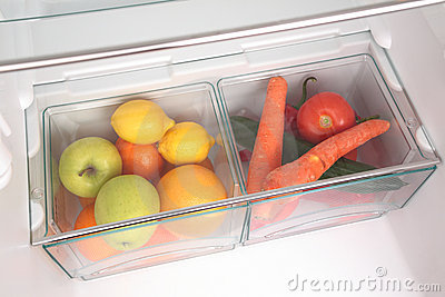 Fruits and Vegetables in Fridge
