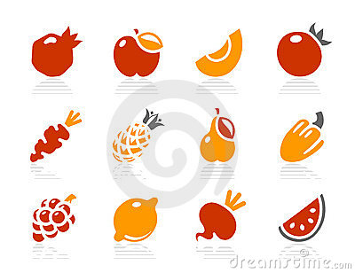 Fruits and Vegetables icons