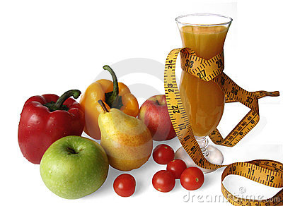 Fruits, vegetables and juice - fitness
