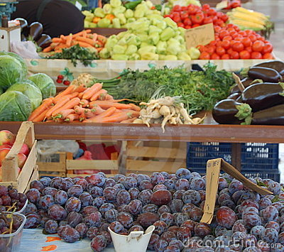 Fruits and vegetables market