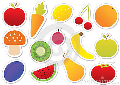 Fruits and Vegetables sticker