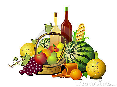Fruits and wines
