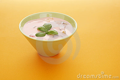 Fruits yoghurt