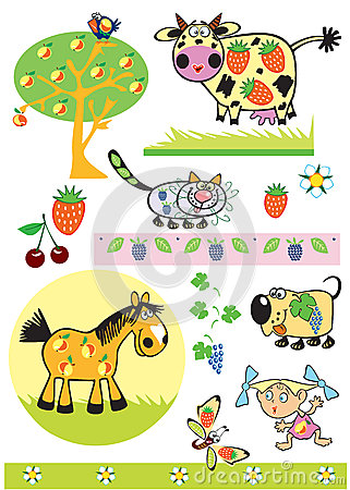 Fruity animals