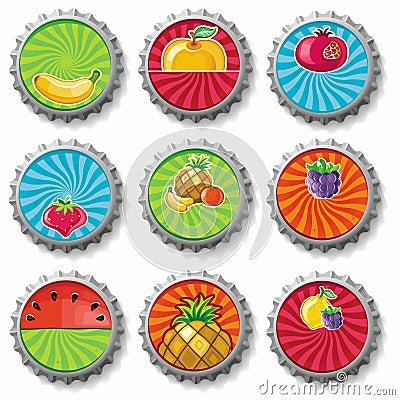Fruity bottle caps 3