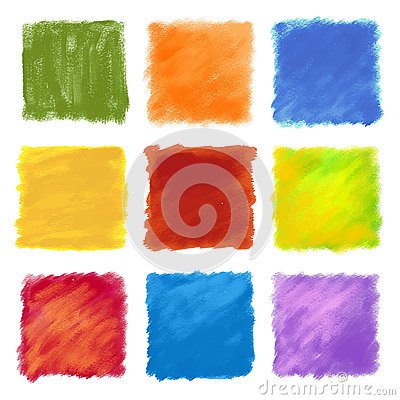 Free Fruity Colored Paint Square Backgrounds Stock Photography - 45281222