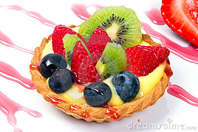 Fruity custard tart